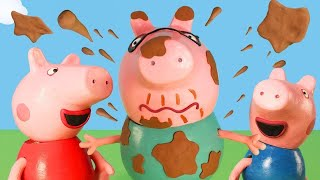 Peppa Pig Official Channel | Peppa Pig Toys: Muddy Puddle Bucket Challenge Peppa Pig