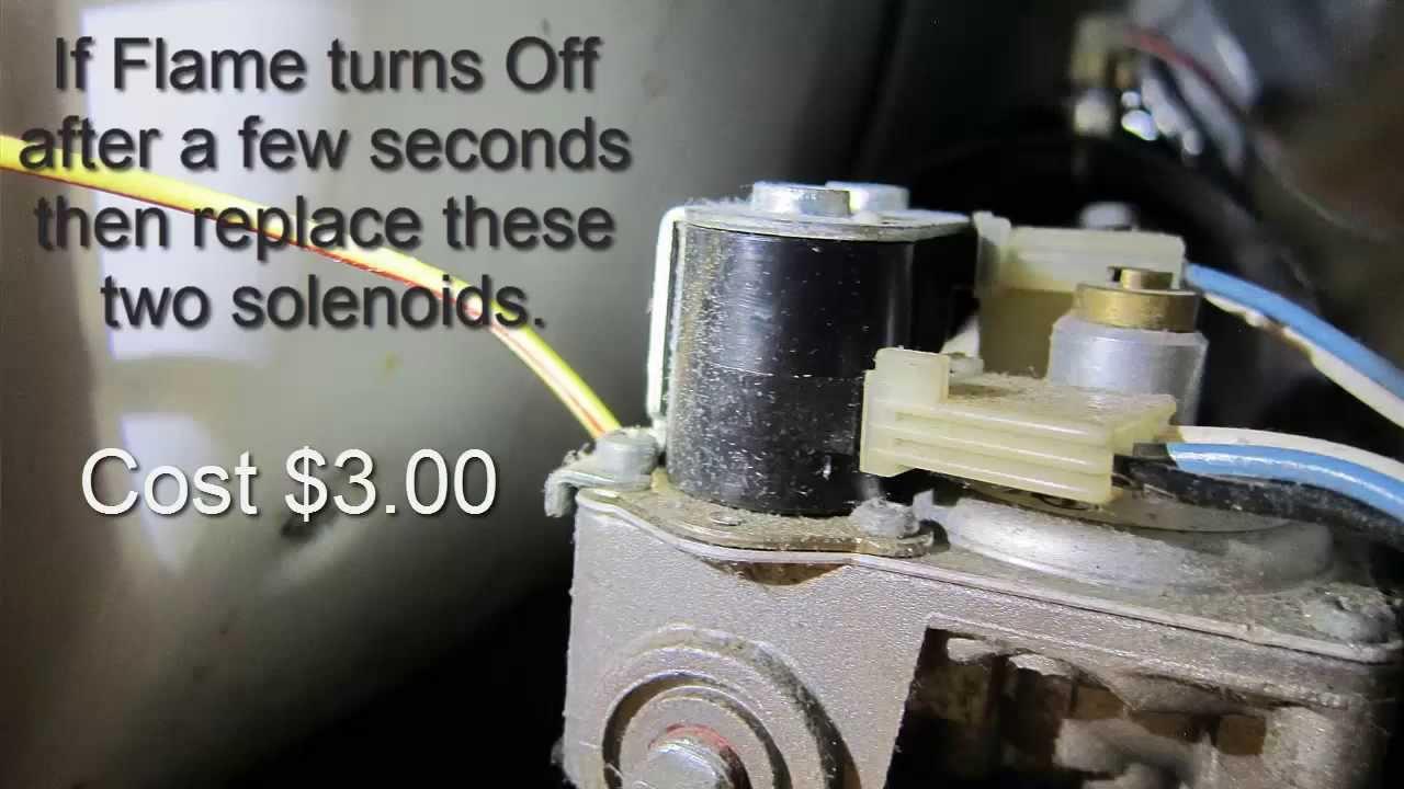 furnace wiring diagrams car stereo diagram sony gas dryer won't heat - easy repair youtube