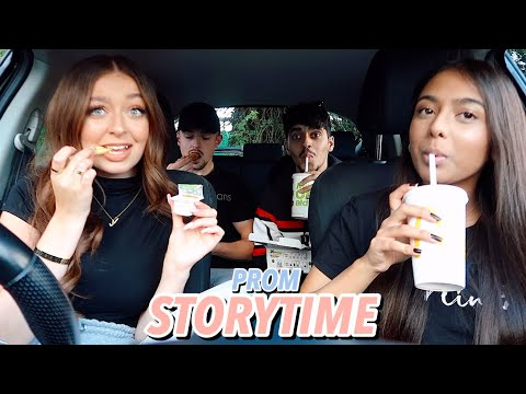 School Mukbang & Prom Story time aka the prom from hell