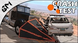 BeamNG Drive - Crash Test - Avion Supersonique - On fait tout péter !