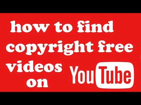 How to found copyright free video audio picture for youtube