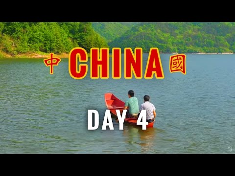 China Vlog Day 4 // Paddling a Metal Canoe // 2017.4.24 Monday