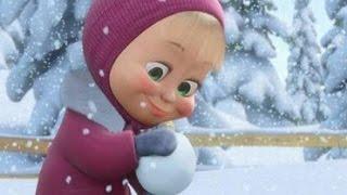 Маша и Медведь - Играют в снежки. Видео игра для детей