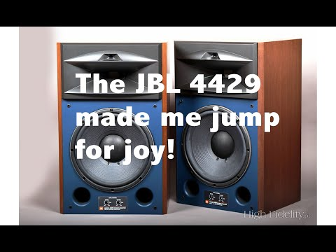 The JBL 4429 speaker Is a knockout