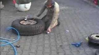 HUMMER Tire blowup