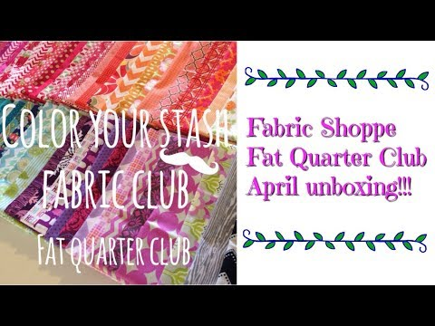 Flosstube #268 Fabric Shoppe Fat Quarter Club unboxing