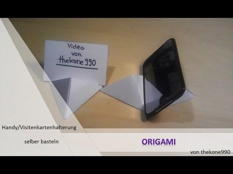 Faltanleitung Origami Coolste Handy Visitenkartenhalterung überhaupt