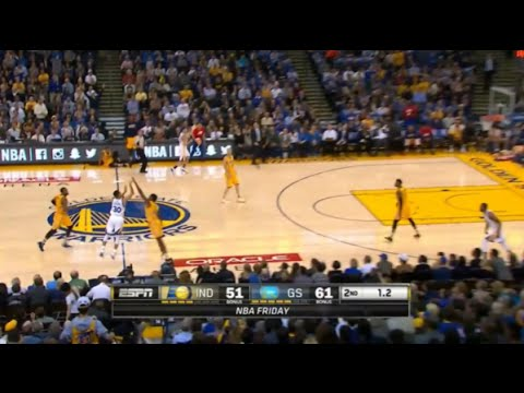 Stephen curry hits 2 half court buzzer beater in a row pacers vs