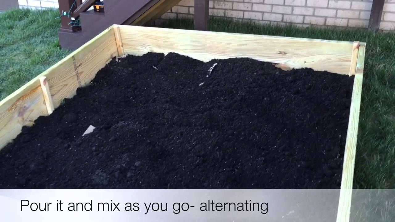 6x6 organic above ground garden for under 200 YouTube