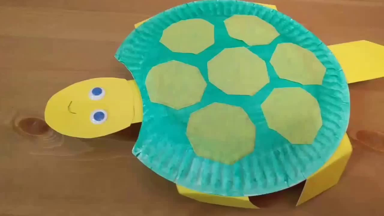 Head Bobbing Turtle - Paper Plate Craft & Head Bobbing Turtle - Paper Plate Craft - YouTube