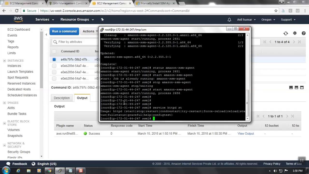 Manually Install SSM Agent on Amazon EC2 Linux Instances