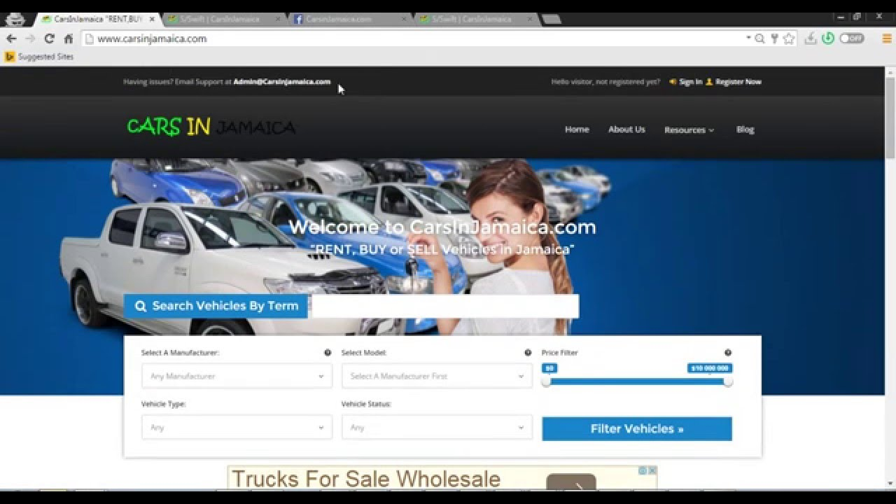 Online Classifieds For Cars in Jamaica - YouTube