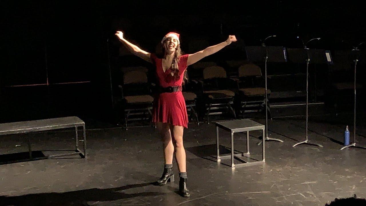 "Kaitlyn Jackson sings ""Surabaya-Santa"""