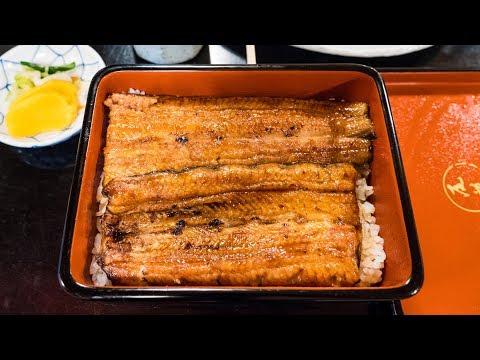 Unagi (うなぎ) - GRILLED EEL Japanese Food at Obana Restaurant (尾花) in Tokyo, Japan!
