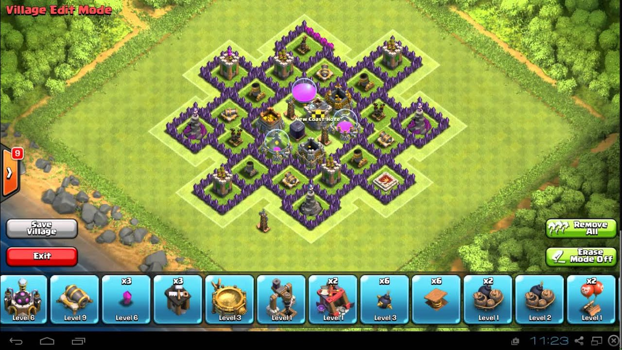 Clash of clans town hall 8 new best base for protecting gold and