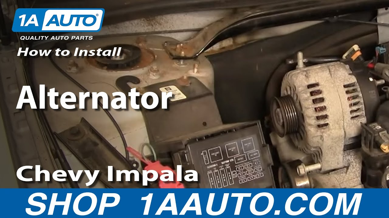 How To Replace Alternator 0005 Chevy Impala  YouTube