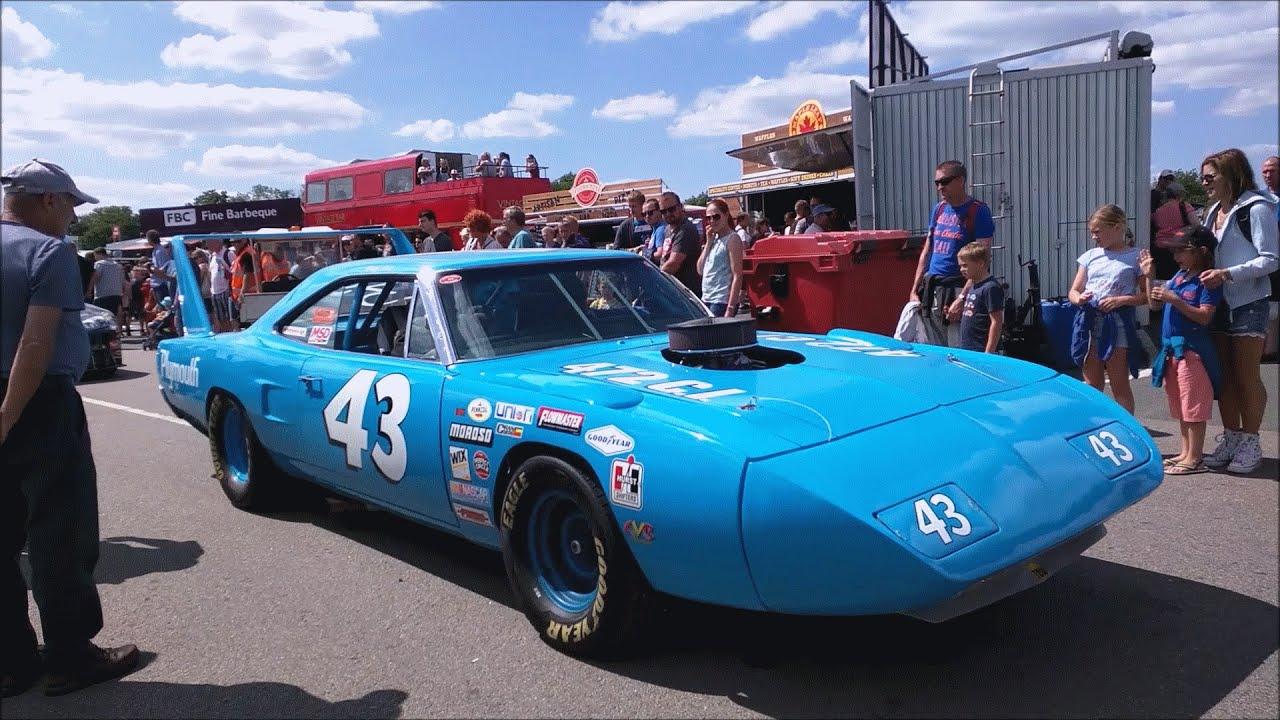 NASCAR racecars at American SpeedFest 2015 - YouTube