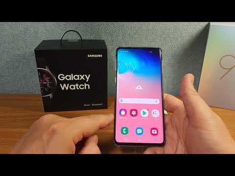 Распаковка Samsung Galaxy S10 на Snapdragon 855 и Galaxy Watch 46 mm