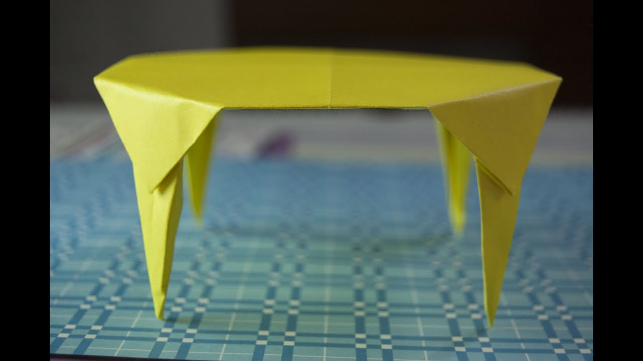 Gentil How To Make A Paper Table Origami   YouTube
