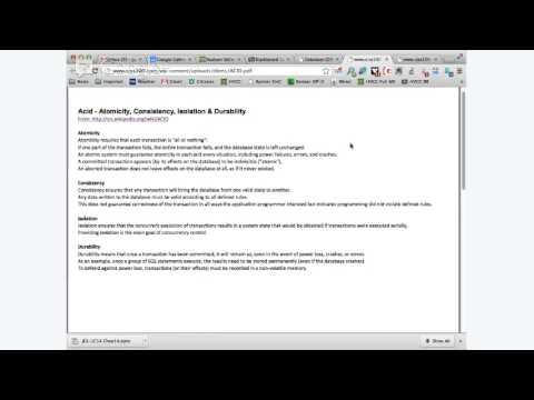 CISS 100 DBMS ACID & OS Shortcomings