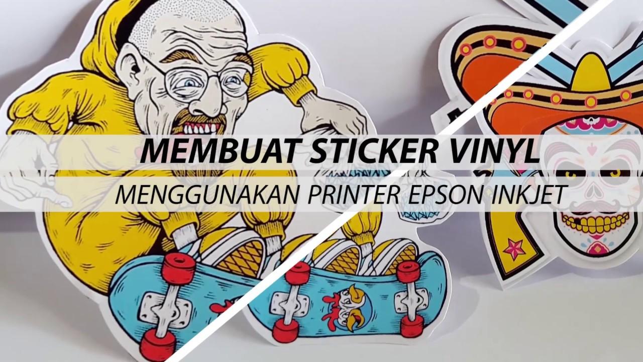 Membuat Stiker Vinyl Menggunakan Printer Inkjet