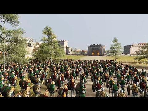 5000 ROYAL SCYTHIA VS 5000 ROME - MASSIVE SIEGE TOTAL WAR: ROME 2 (CINEMA)
