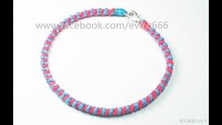 Eva Chiou Jewelry Designs 蠟線教學 4 : 手編 / 平結自創變化