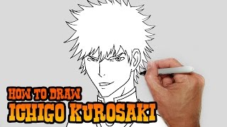 How to Draw Ichigo Kurosaki- Bleach- Video Lesson