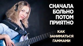 Уроки бас гитары от Дарьи Шорр. Как заниматься гаммами креативно и продуктивно!