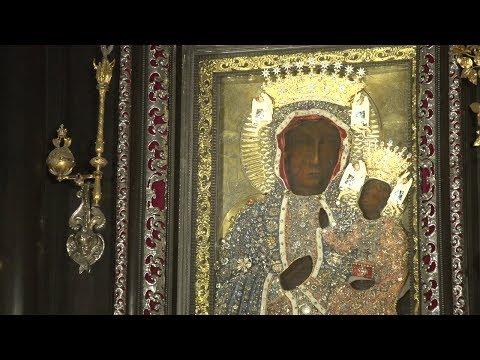 Odsłonięcie nowych koron dla Matki Bożej w rocznicę pobytu papieża Franciszka na Jasnej Górze