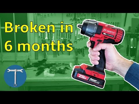 Harbor Freight Bauer Cordless Impact Broken After 6 months … and repaired