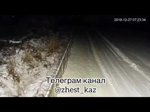 видео падения самолета Fokker-100 в аэропорту Алматы