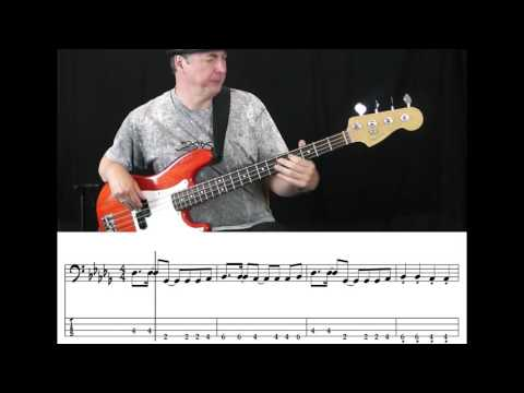 Walk The Moon - Shut up and Dance (Bass Cover with Tabs in Video)
