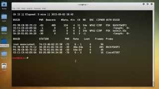 WiFi Wireless Security Tutorial - 5 - Sniffing from the Command Line