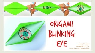 Diy Halloween Crafts - Origami Blinking Eye - Kids Easy Paper Crafts - Eyeballs