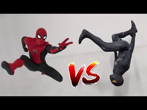 Spiderman vs Black Spiderman (Venom) In Real Life | Parkour vs Tricking