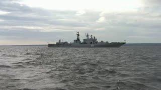 Отряд кораблей Северного флота прибыл в Финский залив для участия в главном военно-морском параде.