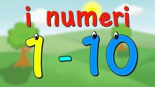 Impara i numeri da 1 a 10 in italiano per bambini | i numeri fino a 10