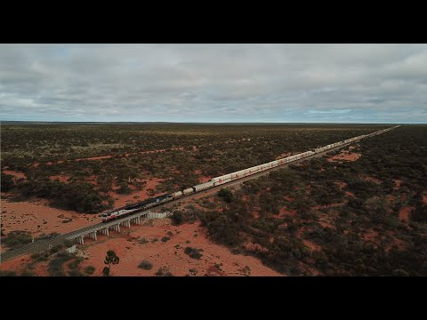 Massive Double Stacked Freight Trains: Heart Of The Trans Australian Railway