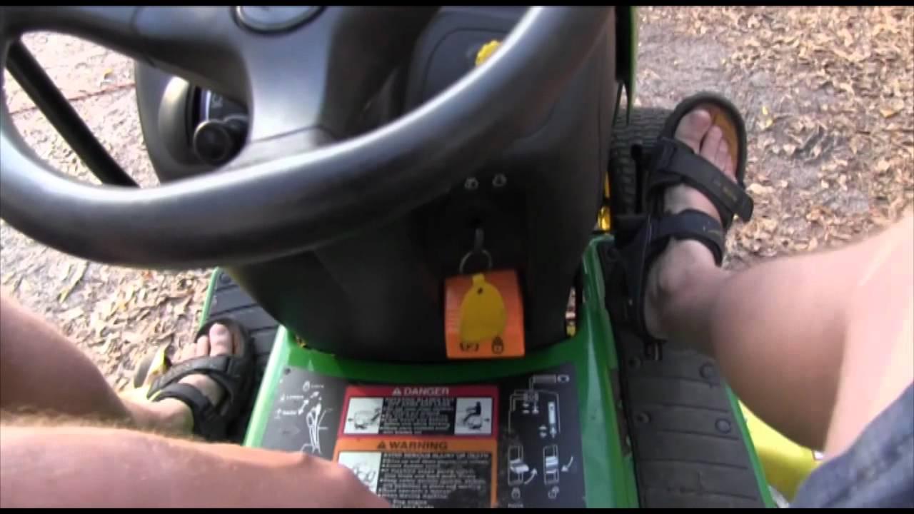 1998 1999 john deere g100 25hp kohler 54 deck garden tractor mower [ 1280 x 720 Pixel ]