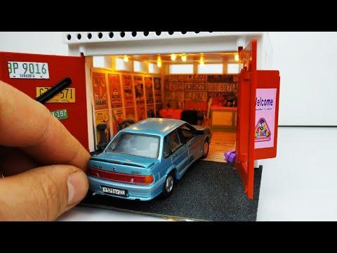 Масштабный гараж со светом для машинок моделек ! Доработка и тюнинг ! Про машинки!