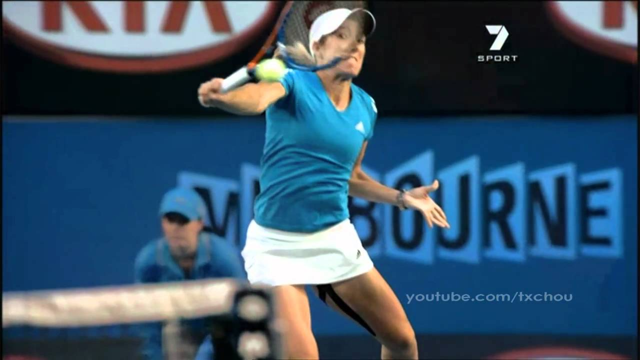 Justine Henin Super Slow Motion Air Backhand
