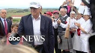 Donald Trump Talks Brexit While on Scotland Trip