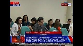 NTVL: Makati RTC 150, naglabas na ng warrant of arrest at HDO vs. Sen. Trillanes thumbnail