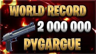 WORLD RECORD 2M DEGATS PYGARGUE ??? - FORTNITE SAUVER THE WORLD