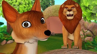 The Lion and the Fox Story | Short Stories for Kids | Infobells