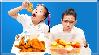 Story about School and Eat Healthy Foods