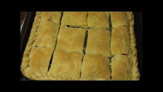 Греческая кухня СПАНАКОТИРОПИТА пирог со шпинатом и фетой
