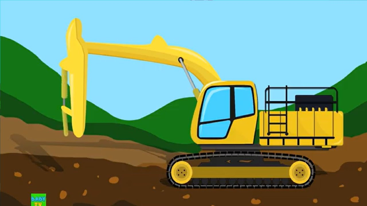 Excavator   Kids Truck & Car Videos   Truck Formation & Uses Videos   Videos for Kids and Babies