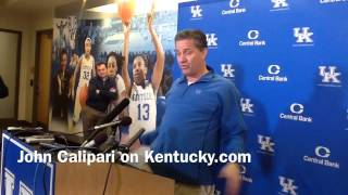 "John Calipari on reaction to his ""over analyzed"" comments"